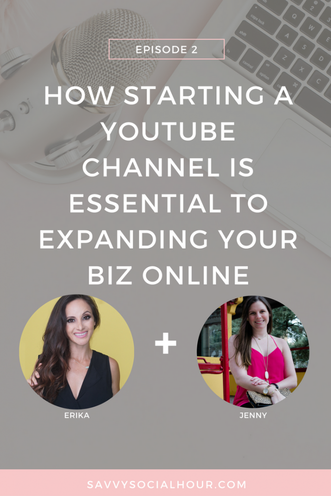 In episode 2 of the Savvy Social Hour podcast, I chat with Erika Viera of Beauty and the Vlog all about Youtube and how starting a YouTube channel is essential for expanding your biz online.