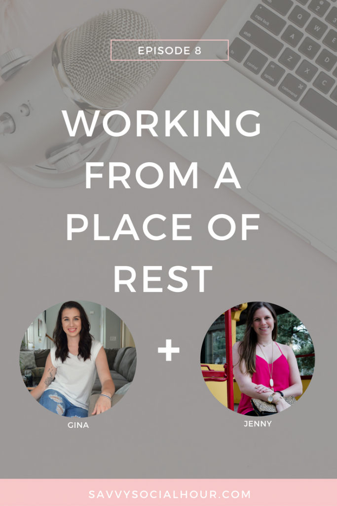 In today's episode, I'm chatting all about working from a place of rest with Gina Lambert. Learn how to work smarter, not harder and cut the hustle.