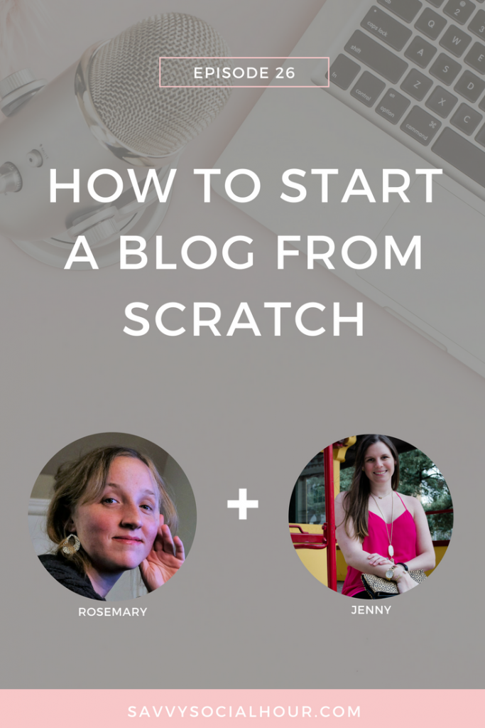 Starting a blog doesn't have to be impossible. Find out how to start a blog from scratch today on the Savvy Social Hour podcast.