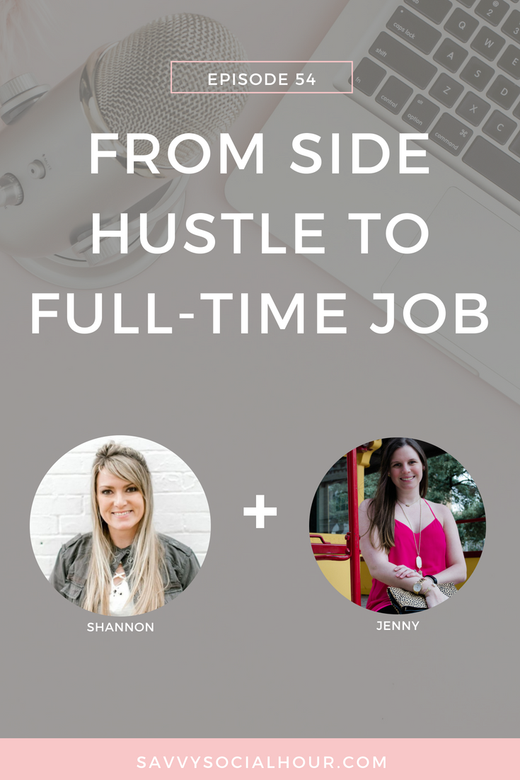 from side hustle to full-time job