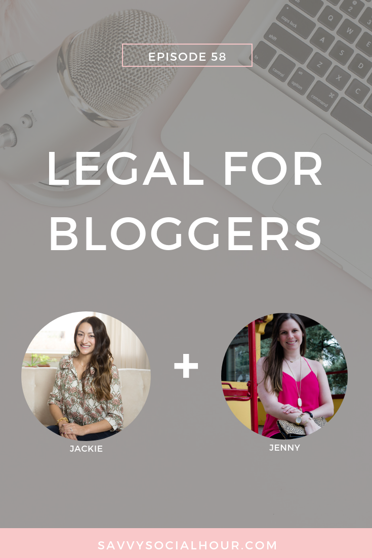 Legal for Bloggers with Jackie